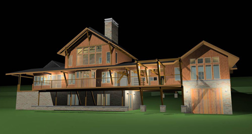 bayhouserendering11 A House on Green Bay